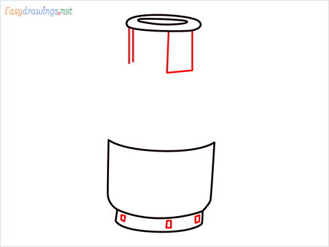how to draw a gas cylinder step (4)