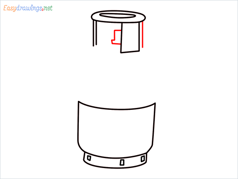 how to draw a gas cylinder step (5)