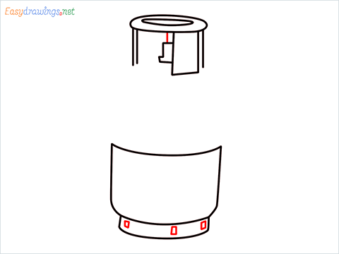 how to draw a gas cylinder step (6)