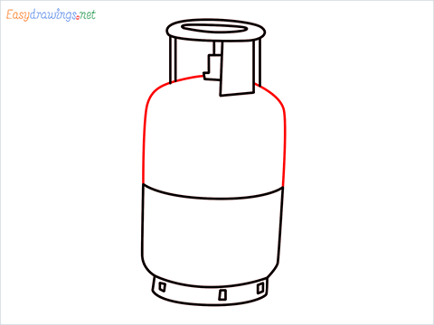 how to draw a gas cylinder step (7)