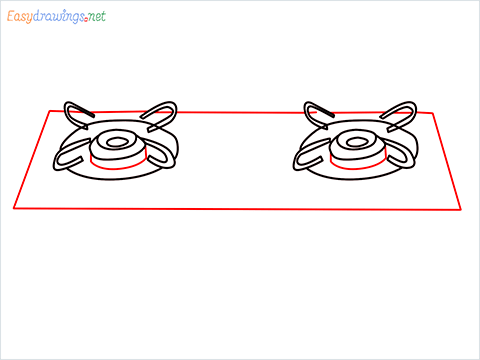 how to draw a gas stove step (5)