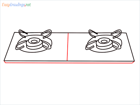 how to draw a gas stove step (6)