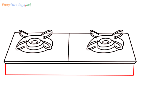 how to draw a gas stove step (7)