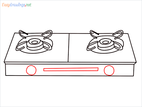 how to draw a gas stove step (8)