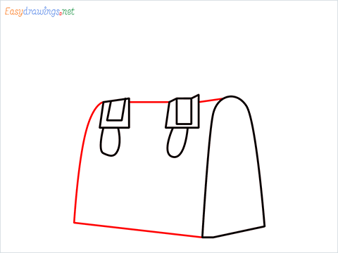 how to draw a ladies bag step (5)