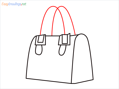 how to draw a ladies bag step (6)
