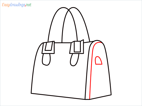 how to draw a ladies bag step (7)