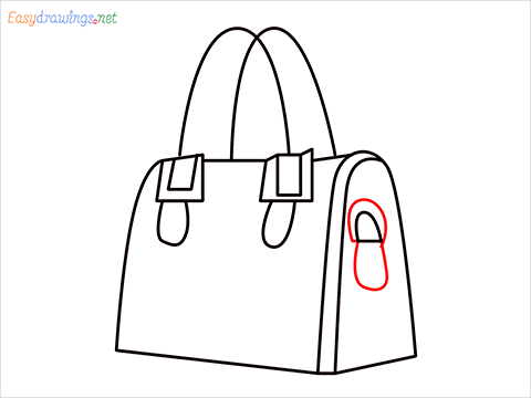 how to draw a ladies bag step (8)