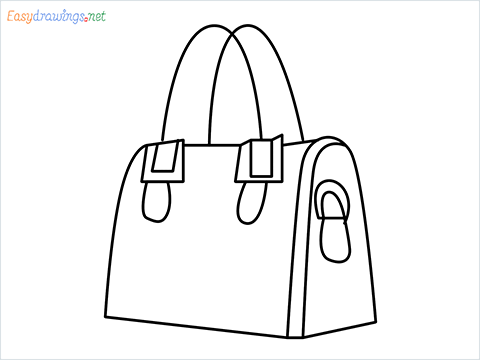 how to draw a ladies bag step by step for beginners