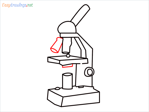 how to draw a microscope step (10)