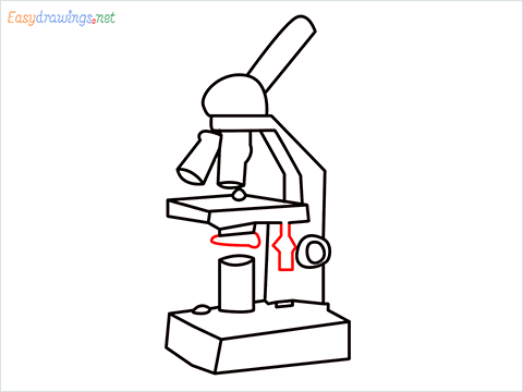 how to draw a microscope step (11)