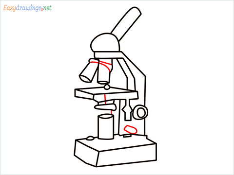 how to draw a microscope step (12)