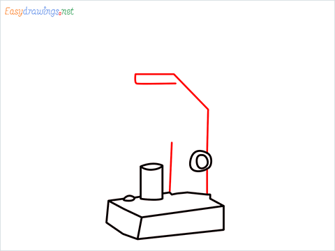 how to draw a microscope step (5)