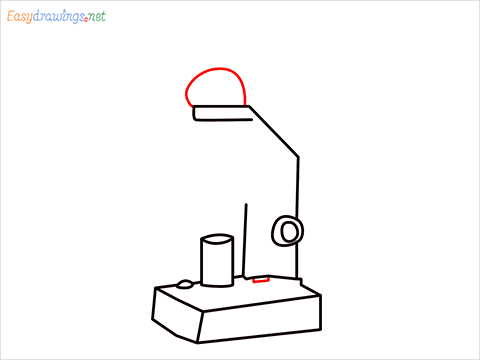 how to draw a microscope step (6)