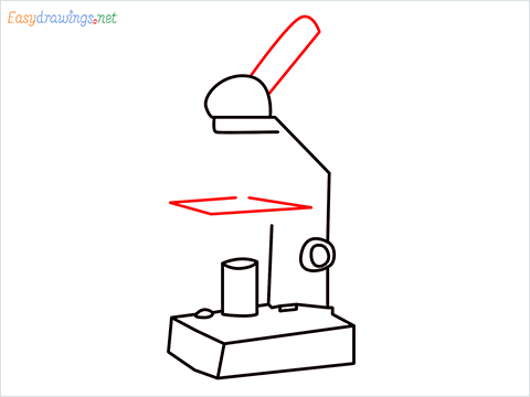 how to draw a microscope step (7)