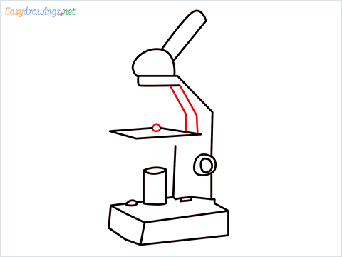 how to draw a microscope step (8)