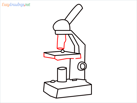 how to draw a microscope step (9)