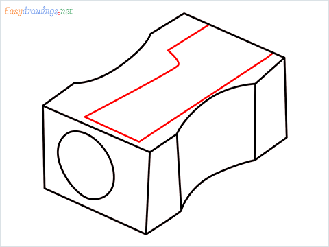 how to draw a pencil sharpener step (6)