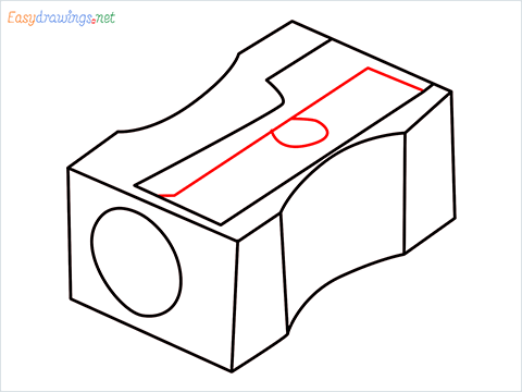 how to draw a pencil sharpener step (7)
