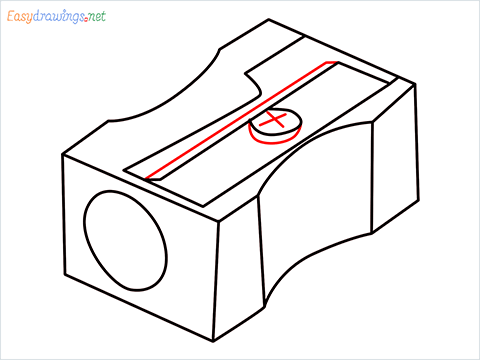 how to draw a pencil sharpener step (8)