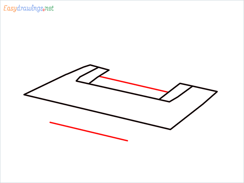 how to draw a printer step (3)