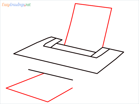 how to draw a printer step (4)