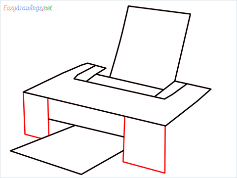 how to draw a printer step (5)