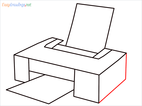how to draw a printer step (6)