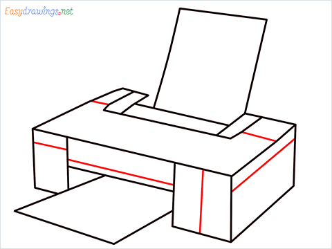 how to draw a printer step (7)