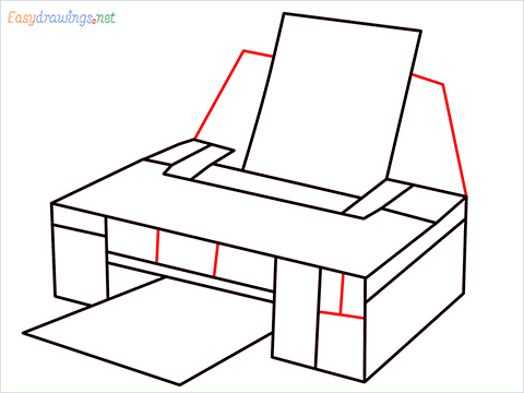 how to draw a printer step (8)