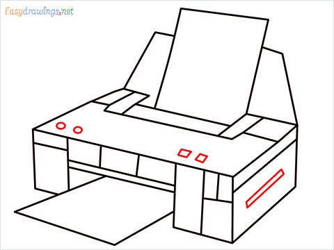 how to draw a printer step (9)