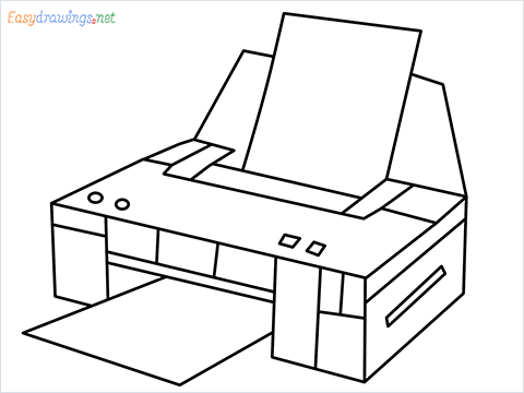 how to draw a printer step by step for beginners