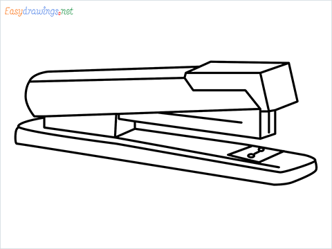 how to draw a stapler step by step for beginners