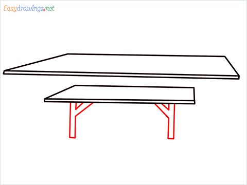 how to draw a table step (3)