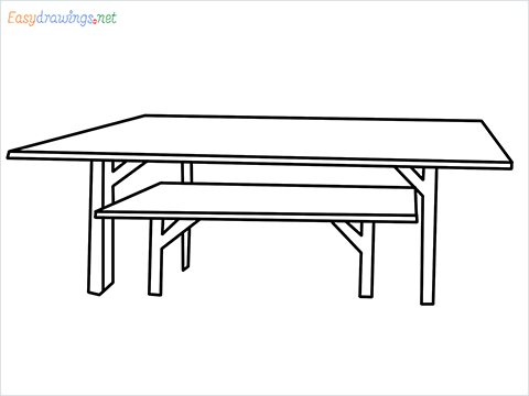 how to draw a table step by step for beginners