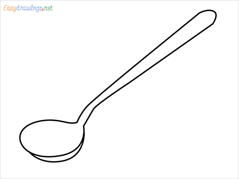 how to draw a tablespoon step by step for beginners
