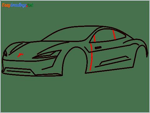 how to draw a tesla car step (10)