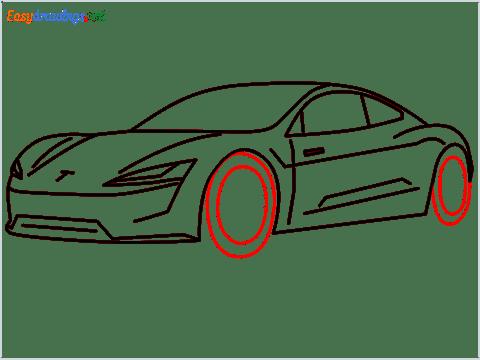 how to draw a tesla car step (11)