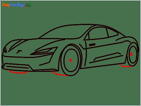 how to draw a tesla car step (12)