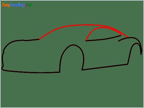 how to draw a tesla car step (4)