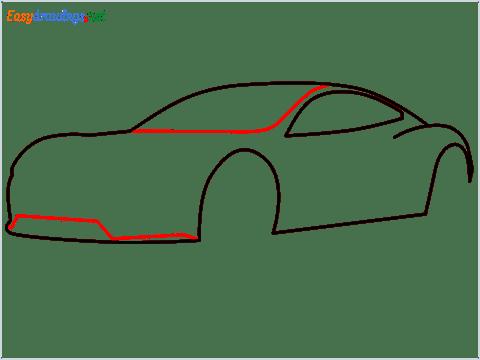 how to draw a tesla car step (5)