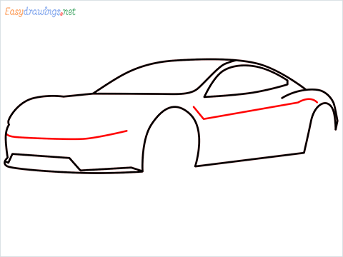 how to draw a tesla car step (6)