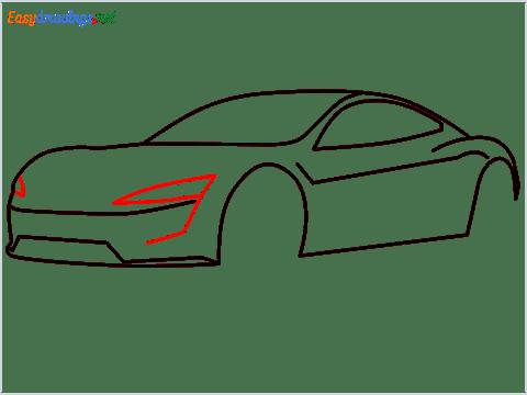 how to draw a tesla car step (7)