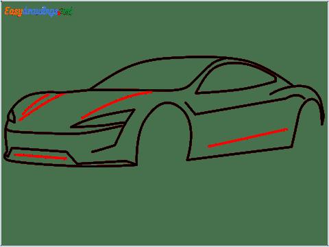 how to draw a tesla car step (8)