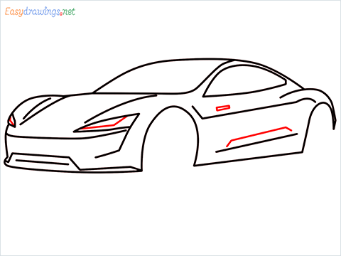 how to draw a tesla car step (9)