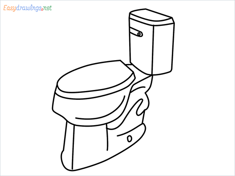 how to draw a toilet seat step by step for beginners