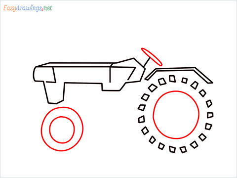 how to draw a tractor step (4)