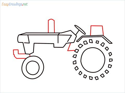 how to draw a tractor step (5)