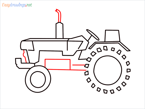how to draw a tractor step (6)