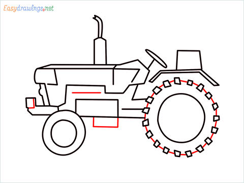 how to draw a tractor step (7)